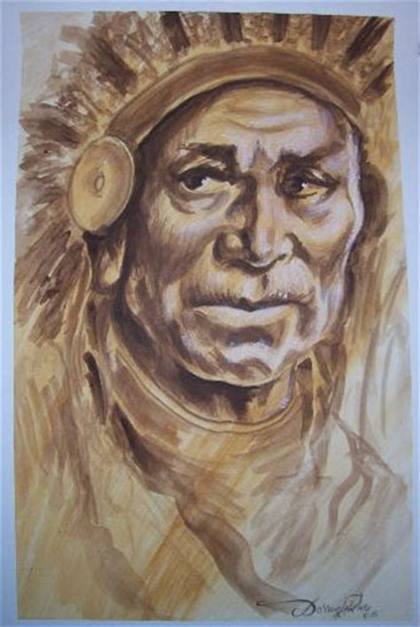 looking for unique watercolor tattoos indian chief