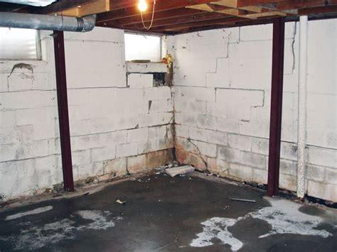 repair basement wall the powerbrace wall repair system installation in toronto
