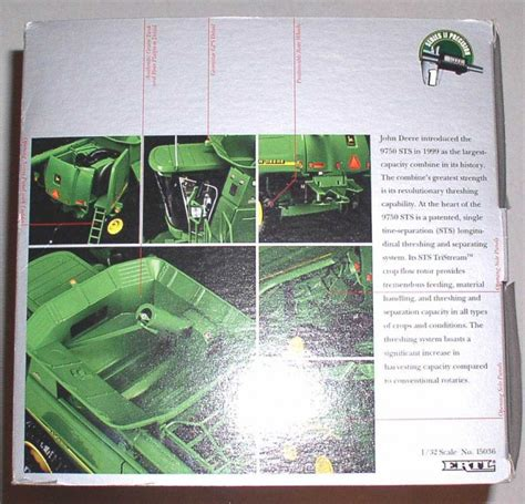 vintage rubber sts precision deere 9750 sts combine 1 32 series ii