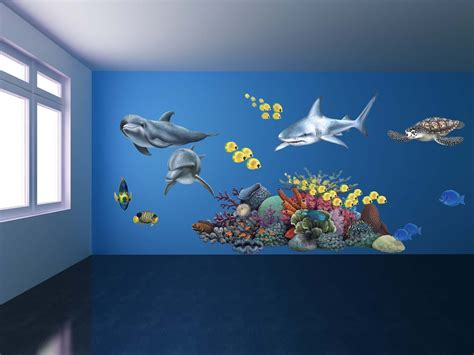 Giant Wall Stickers For Nursery giant shark wall sticker giant animal decals fun decor