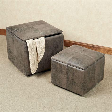 gray storage ottoman nexus gray storage ottoman set