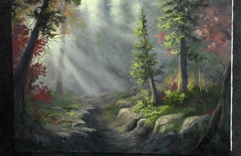acrylic painting kevin paint with kevin hill forest riverbed