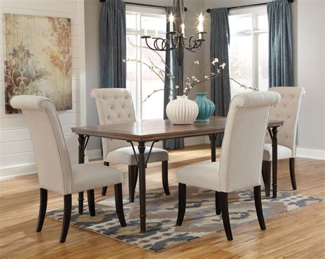 dining room table and 4 chairs tripton rectangular dining room table 4 uph side chairs