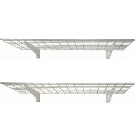 home depot wall shelves hyloft 48 in x 24 in 2 shelf wall storage shelves 00630