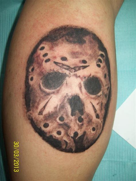jason mask tattoo by dannewsome on deviantart