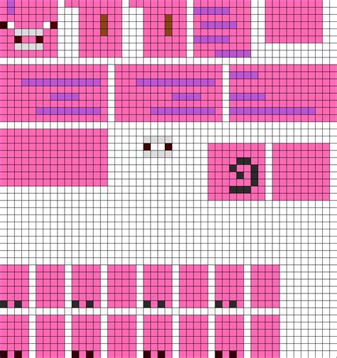 perler bead patterns 3d 3d minecraft pig perler bead pattern bead sprites