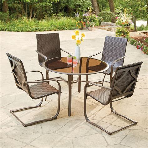 5 patio dining set hton bay santa 5 wicker outdoor dining set