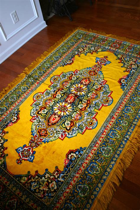 home decor carpet vintage rug golden yellow eclectic bohemian home decor
