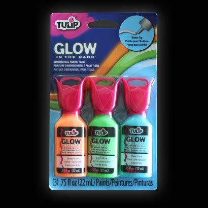 glow in the fabric paint uk tulip 3d glow in the fabric paint