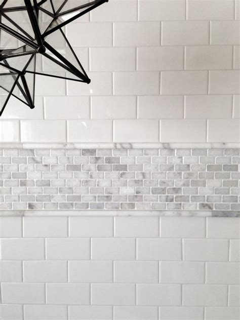 bathroom subway tile designs 29 ideas to use all 4 bahtroom border tile types digsdigs