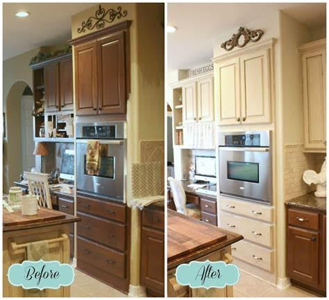 chalk paint kitchen cabinets before and after from my front porch to yours farmhouse diy kitchen