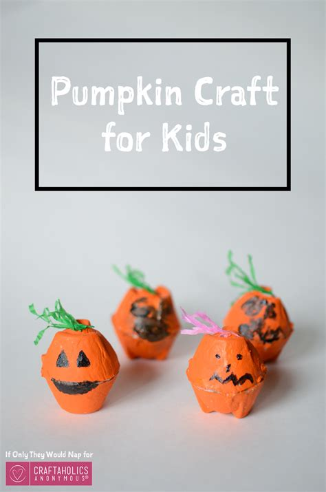 pumpkin craft for craftaholics anonymous 174 easy pumpkin craft