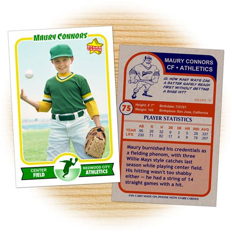 make your own sports card retro 75 series is the primary custom baseball card design