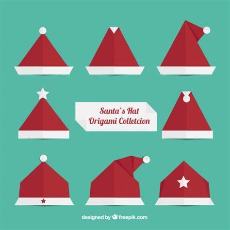 santa hat origami origami santa claus hats vector free