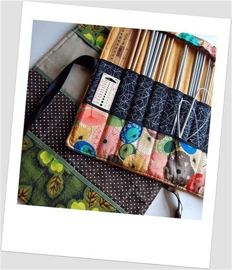 knitting needle roll tutorial madebyloulabelle how to make a knitting needle roll