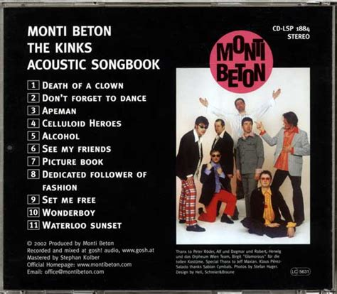 picture book the kinks lyrics the kinks acoustic songbook monti beton