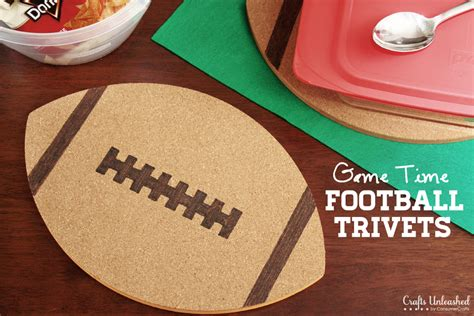 football crafts for trivet time football corks tutorial
