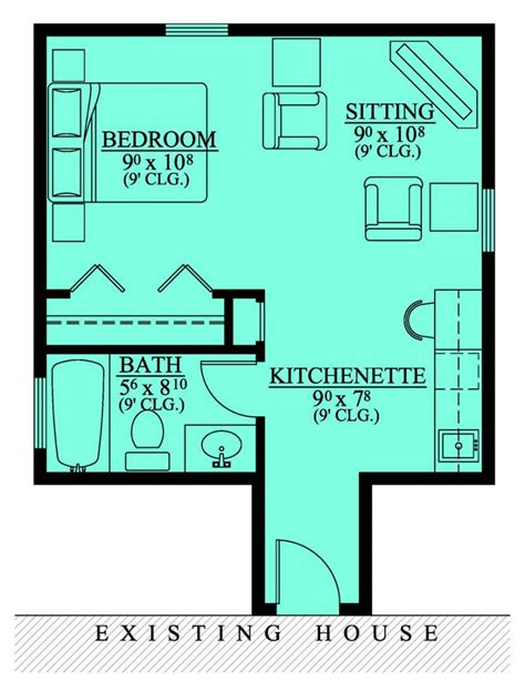 floor plans with in suite 654185 in suite addition house plans