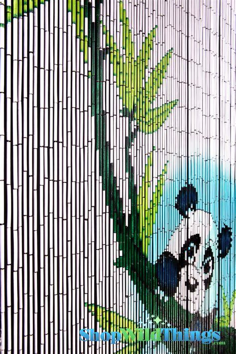 bamboo bead curtain panda curtains panda hanging from bamboo