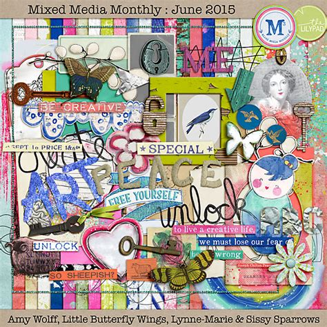 kits monthly the lilypad mixed media monthly mixed media monthly