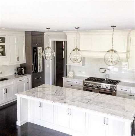 white pendant lights kitchen best 25 white marble kitchen ideas on marble