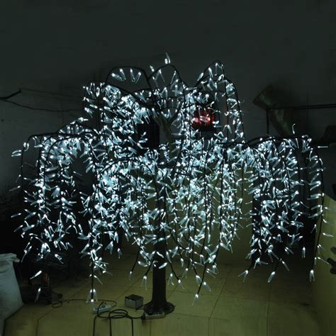 artificial trees with led lights 2 0meter high 2592leds outdoor artificial trees