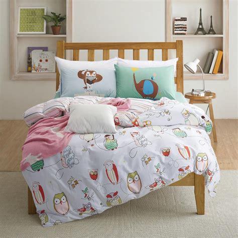 owl bedding set 100 cotton owl print bedding set size