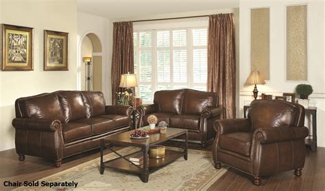 Acme Furniture Dining Room Set coaster montbrook 503981 503982 brown leather sofa and