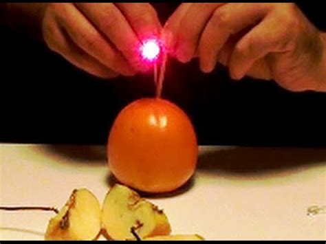 how to power lights with a battery how to power led light with any fruit cool science