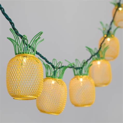 pineapple string lights wire pineapple 10 bulb string lights world market