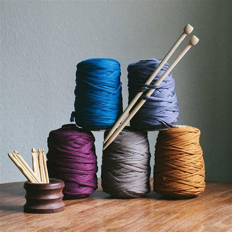 knitting t shirt yarn recycled t shirt yarn for knitting crochet by the crochet