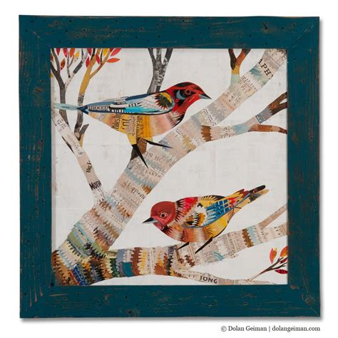 painting craft for the warblers square paper collage dolan geiman