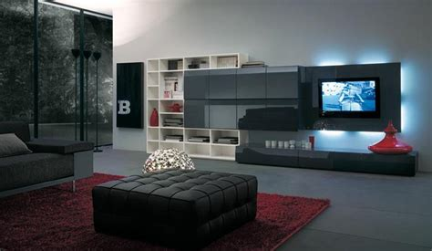 Small Apartment Dining Room Ideas modern italian lcd black wall unit design ipc217 lcd tv