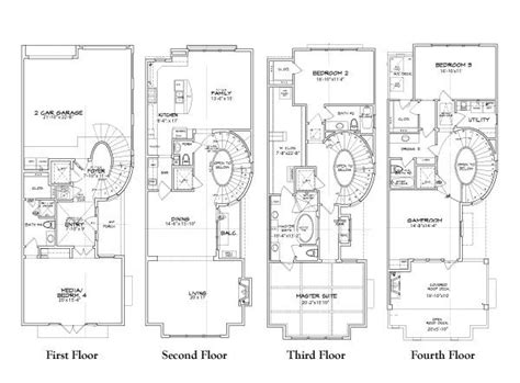 townhome floor plan luxury townhouse plans with luxury townhouse floor plans