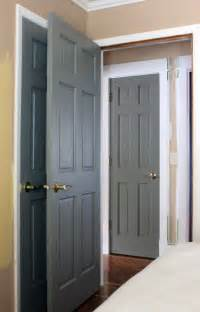 interior painted doors painted gray doors guest room and our humble abode