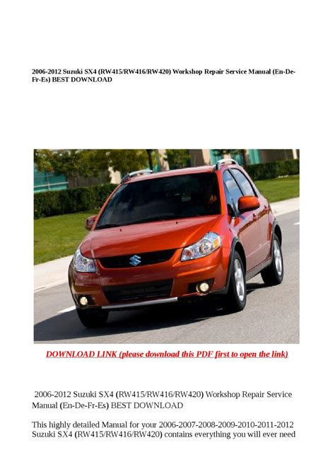 free car manuals to download 2012 suzuki grand vitara spare parts catalogs service manual 2012 suzuki sx4 workshop manual free download suzuki sx4 service manual pdf