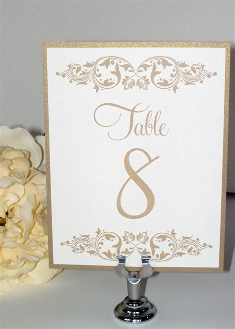 how to make table number cards wedding table numbers wedding table cards