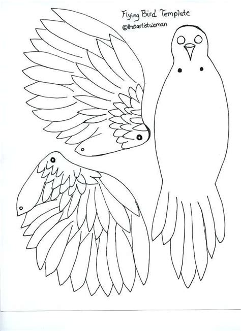 paper bird craft template pin by robin standlea on paper dolls