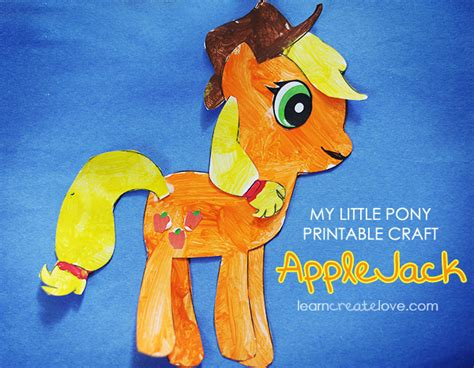 crafts with pony my pony craft applejack