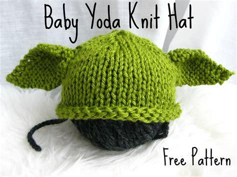 yoda knit hat baby yoda knit hat with free pattern fuzzyclouddesigns