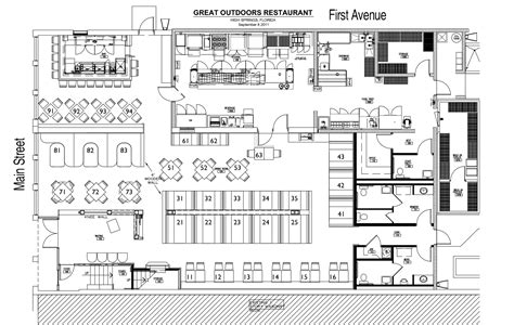 fast food restaurant floor plan restaurant interior design floor plan t 236 m với