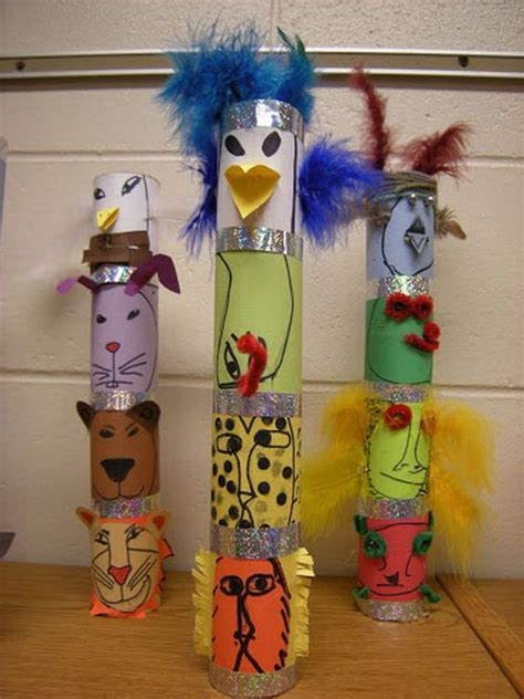 totem pole craft for totem poles totems and totem pole craft on