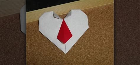 valentines day origami how to craft an origami with a necktie for