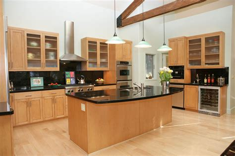 kitchen cabinets light modern kitchen with granite and light maple cabinets