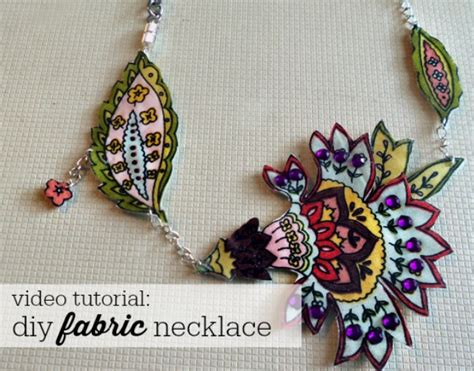 material to make jewelry diy fabric statement necklaces