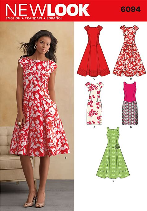 sew on dresses new look sewing pattern miss clothing plus