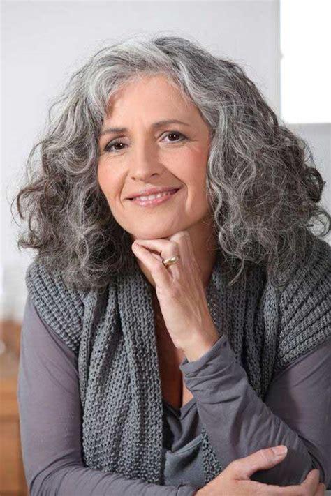 mid length grey hair short medium curly hairstyles short hairstyles 2016
