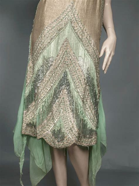 bead trim for dresses 1920 s beaded flapper dress fashioned from light green