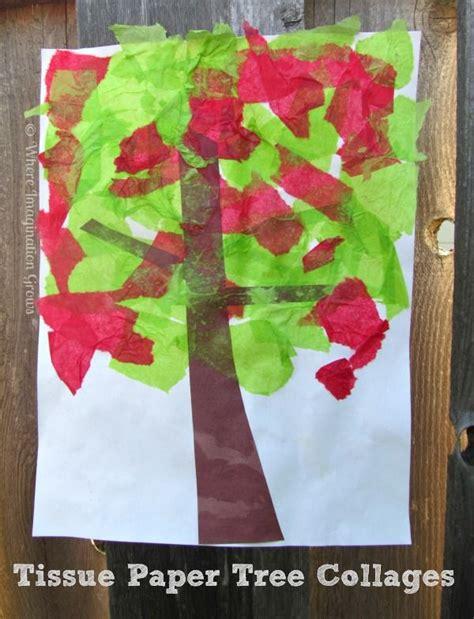 tissue paper tree craft 25 unique tissue paper trees ideas on tissue