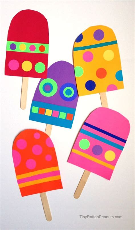 easy toddler crafts paper paper popsicle craft craft summer and summer crafts
